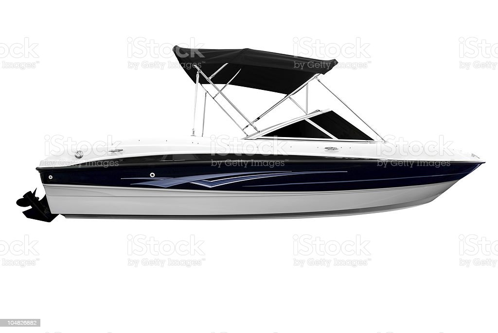 boat isolated on white royalty-free stock photo