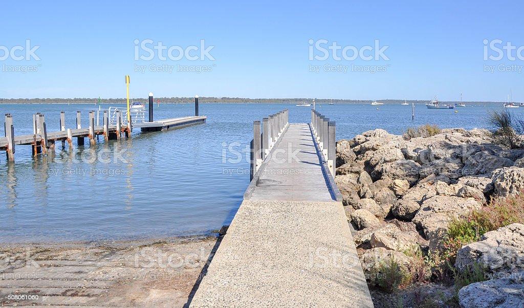 Boat Launch and Dock: Mandurah Foreshore stock photo