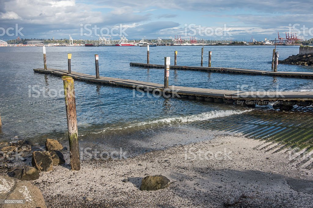 Boat Launch in West Seattle stock photo
