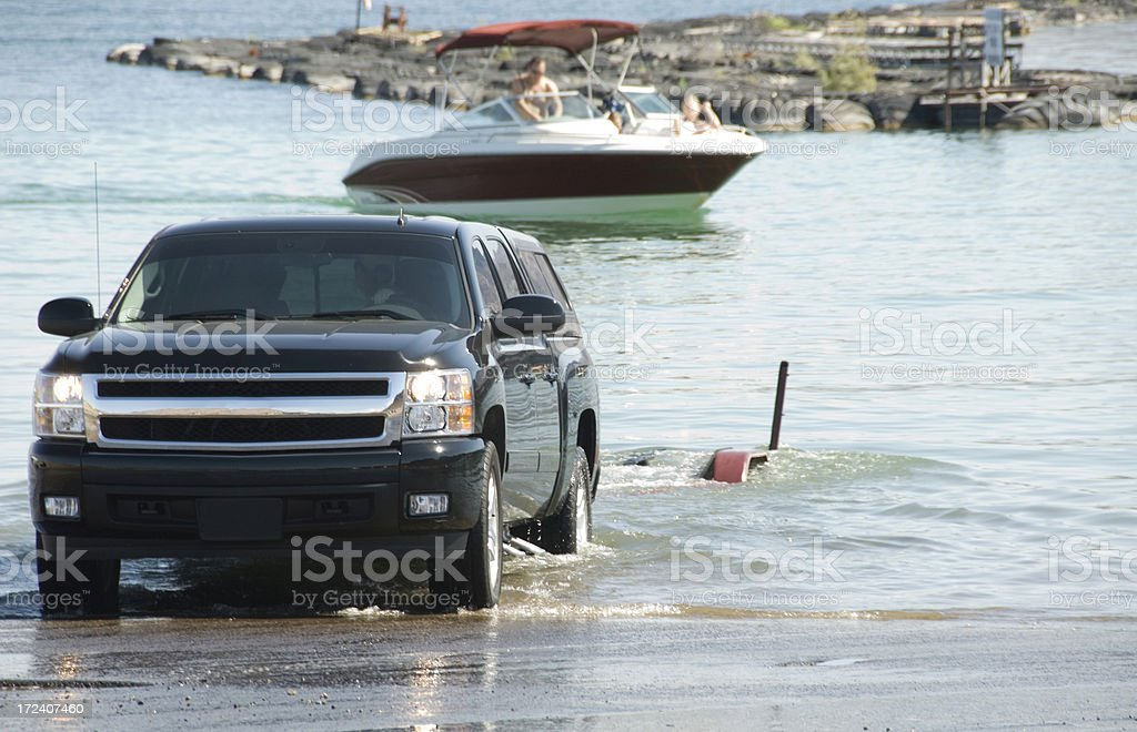 Boat Launch royalty-free stock photo