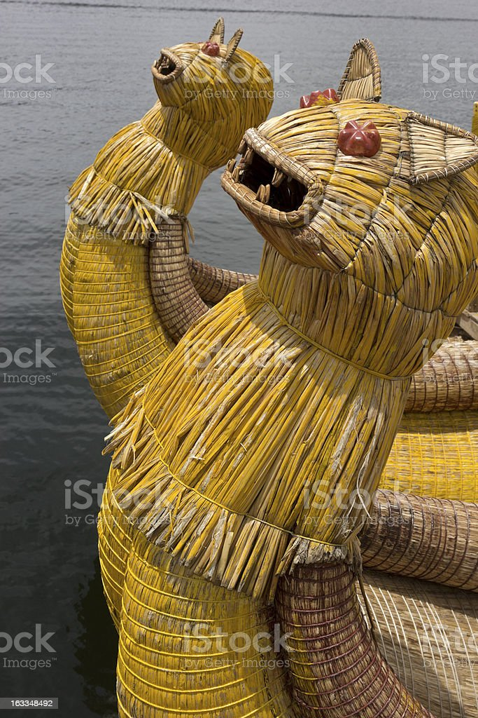 Boat made out of cane royalty-free stock photo
