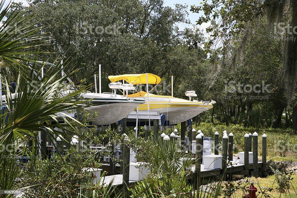 Boat Marina in Florida royalty-free stock photo