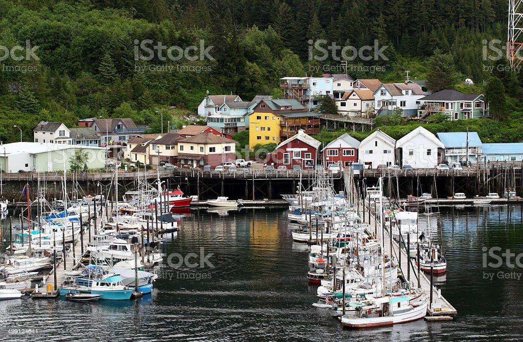 Boat Moorage royalty-free stock photo