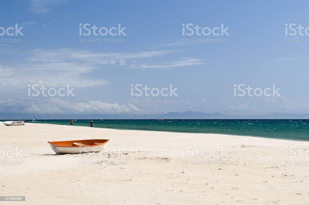 Boat near the ocean royalty-free stock photo