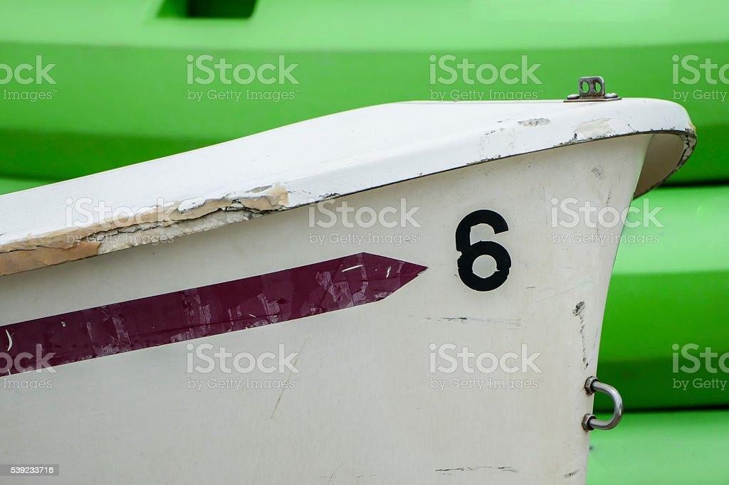 Barco número 6 foto royalty-free