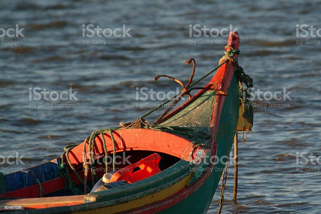 Boat of fisherman royalty-free stock photo