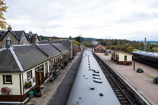 Boat of Garten Railway Station, Scottish Highlands stock photo