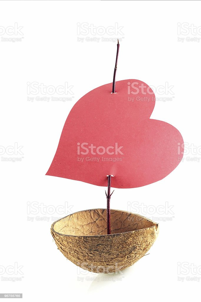 boat of love royalty-free stock photo
