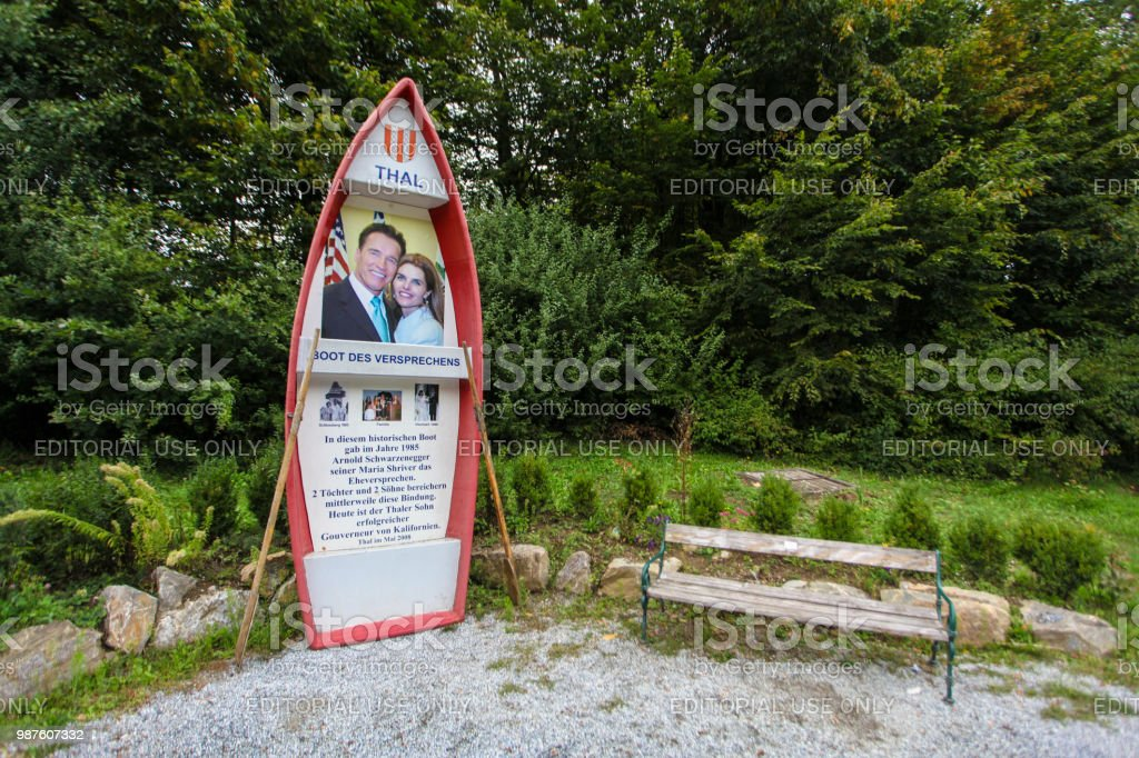 Boat of promise on Thalersee stock photo