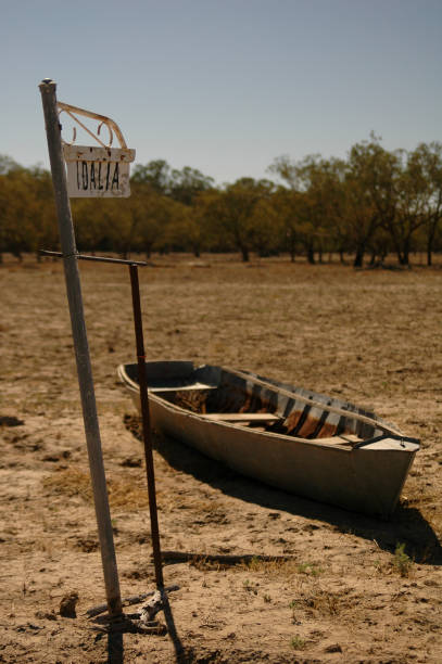 A boat on a dryland_0081 stock photo
