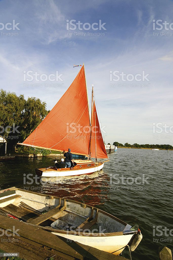 Boat on a Lake royalty-free stock photo