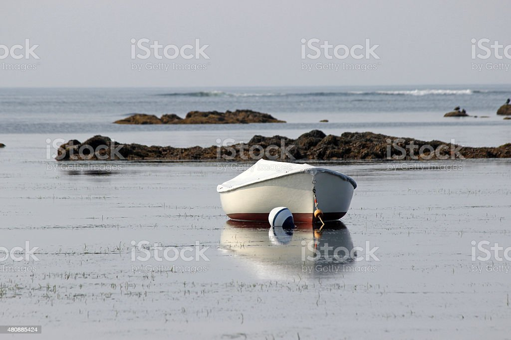 Boat on a Mooring stock photo
