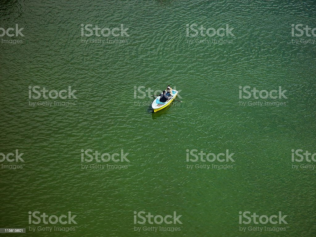 Boat on a Pond royalty-free stock photo