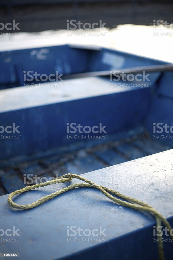 Boat on a Rope royalty-free stock photo