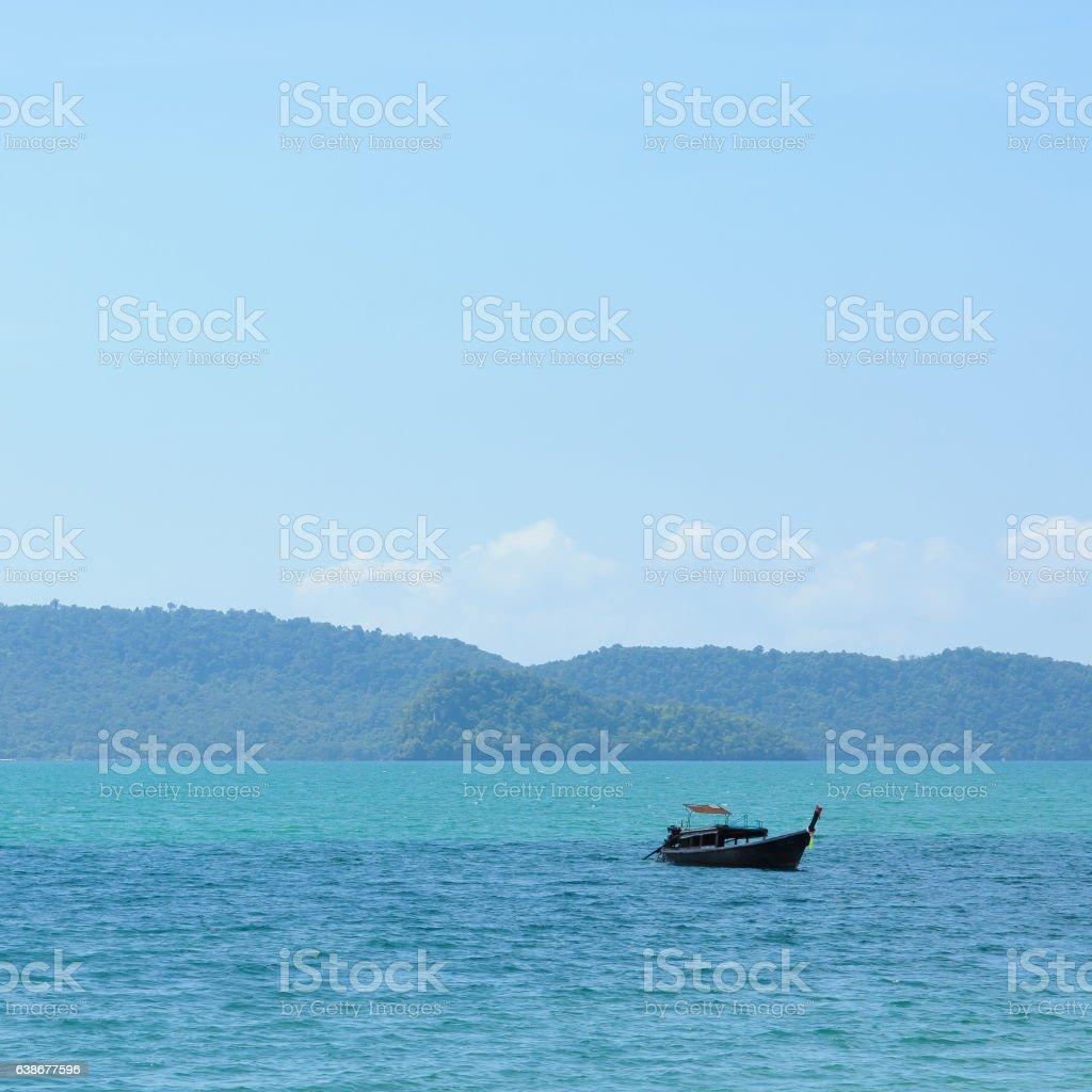 Boat on Andaman sea, Thailand stock photo