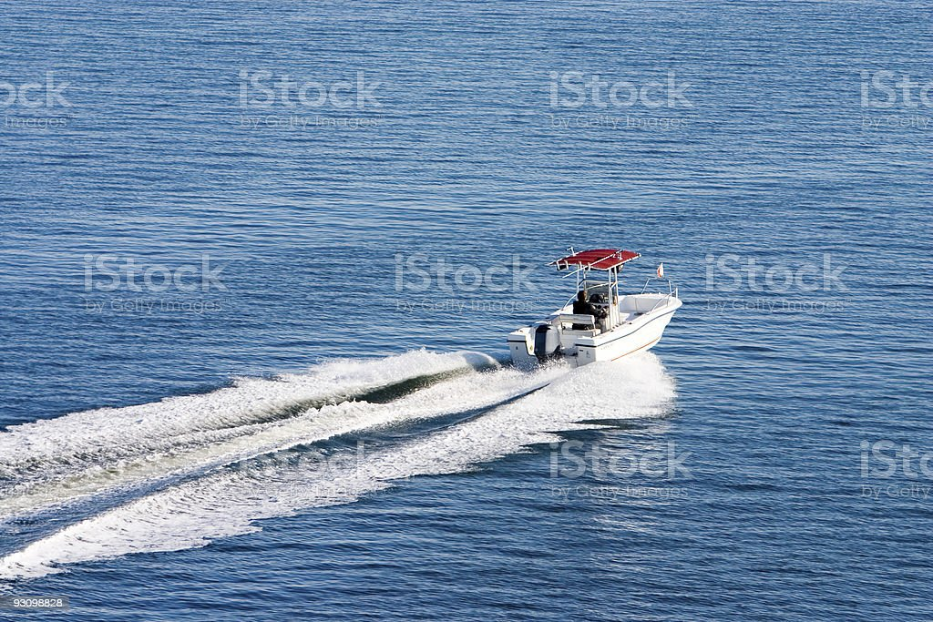 Boat on calm day royalty-free stock photo