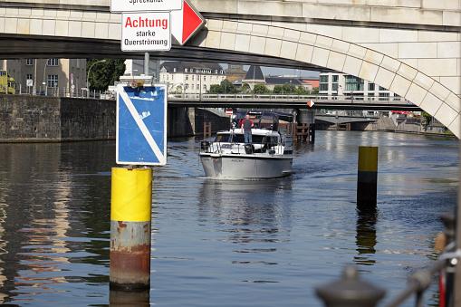 Boat on European River