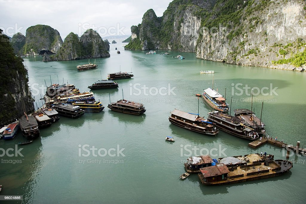 Boat on Halong Bay royalty-free stock photo