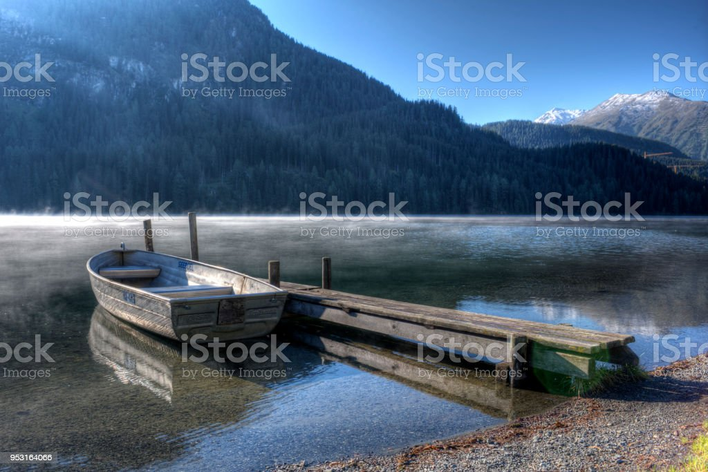 Boot am Davosersee – Foto