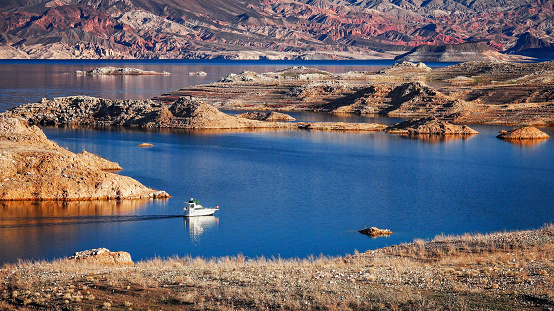 Boat On Lake Mead Stock Photo - Download Image Now