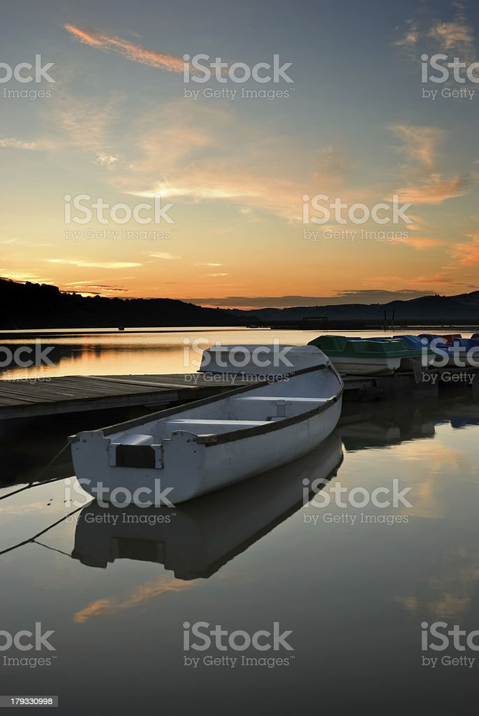 Boat on Lake royalty-free stock photo