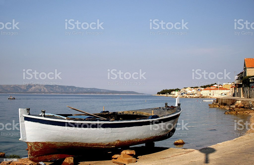 boat on land royalty-free stock photo