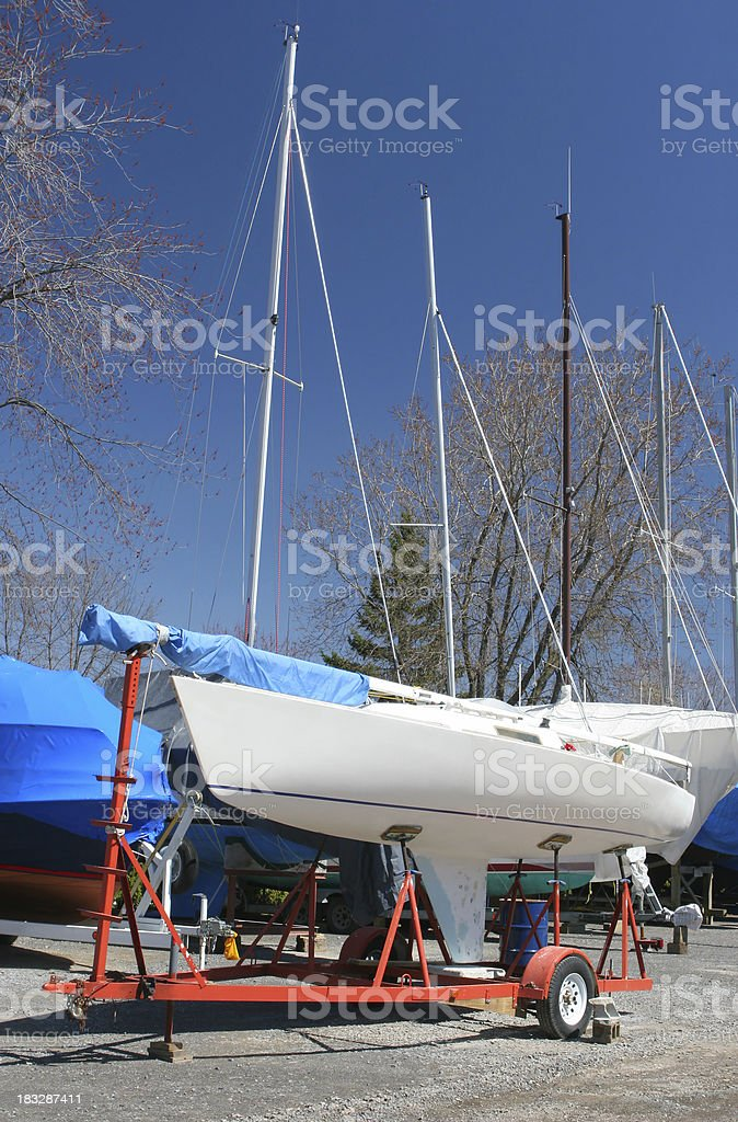 Boat on Maintenance royalty-free stock photo