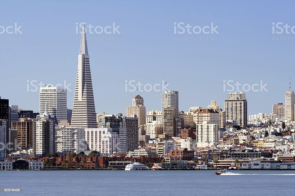 Boat on San Francisco Bay royalty-free stock photo