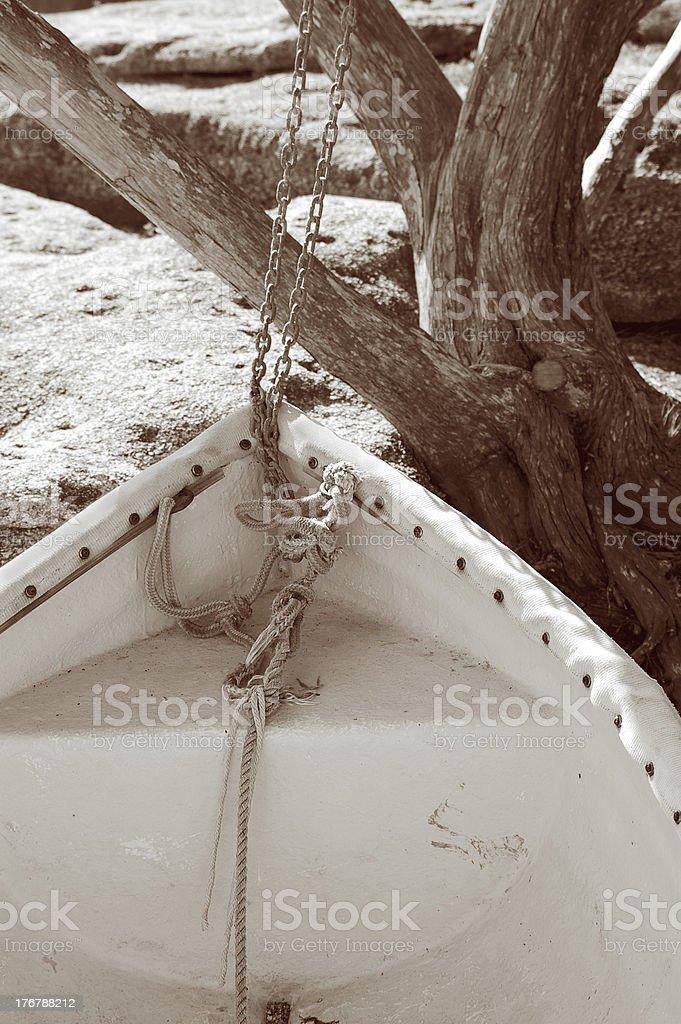 Boat on shore royalty-free stock photo