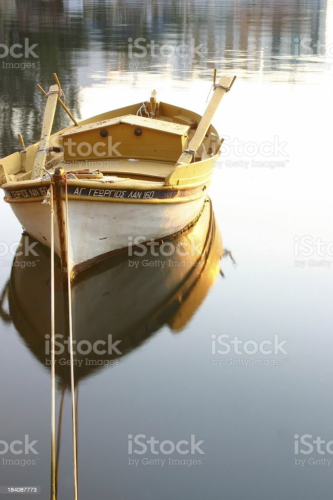 Boat on silent sea royalty-free stock photo