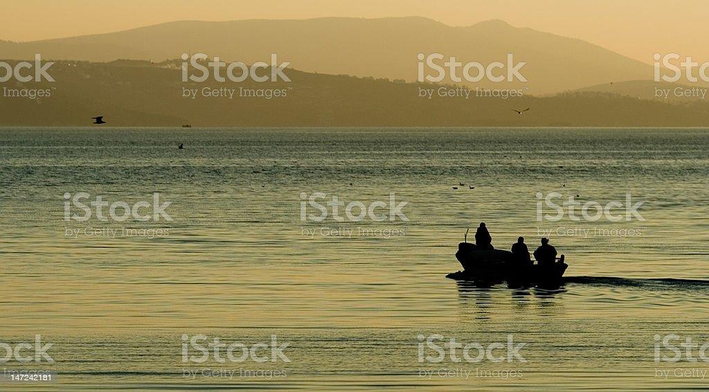 Boat On The Aegean Sea stock photo