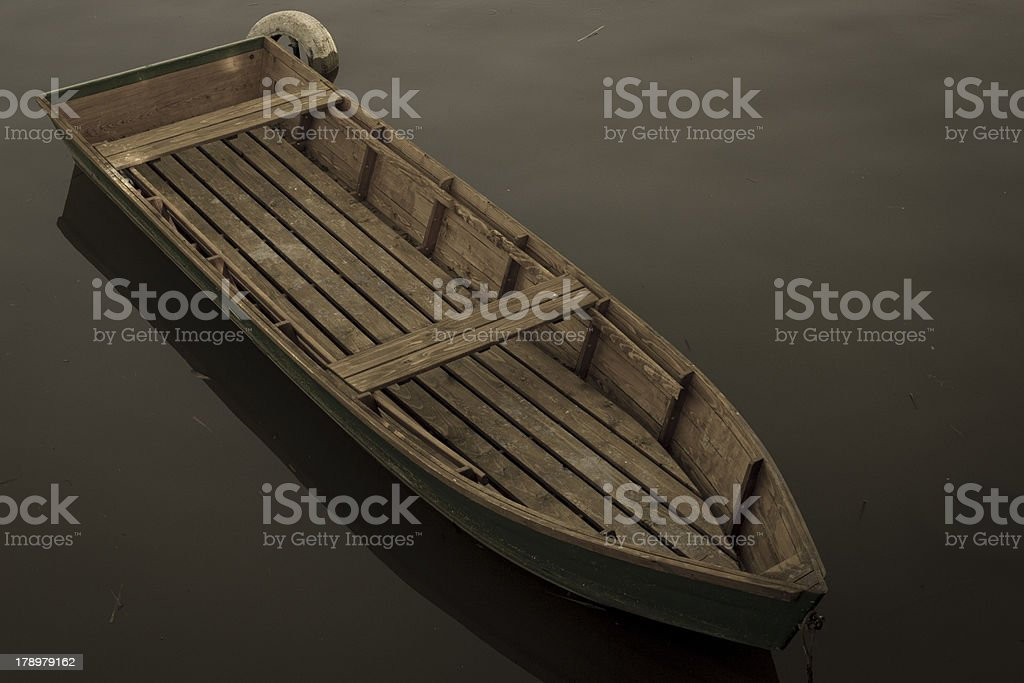 Boat on the Danube royalty-free stock photo