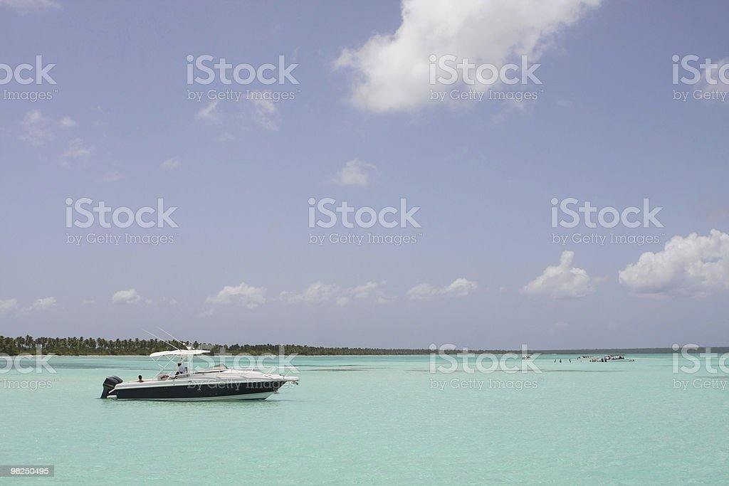 boat on the dominican sea royalty-free stock photo