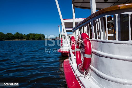 A boat on the Hamburg Alster river in Germany