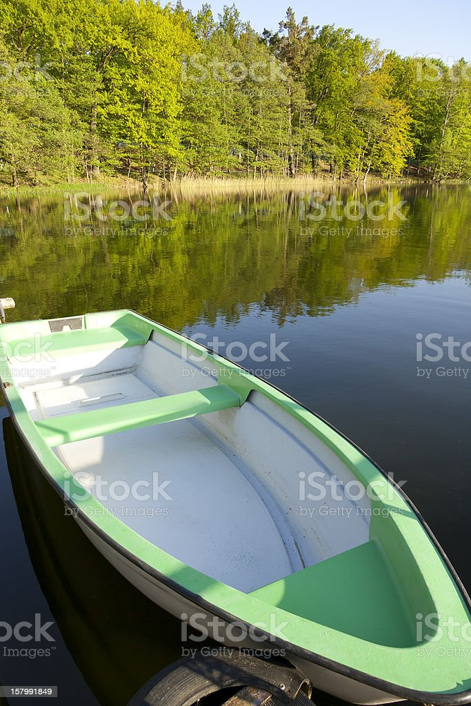 Boat on the Lake stock photo