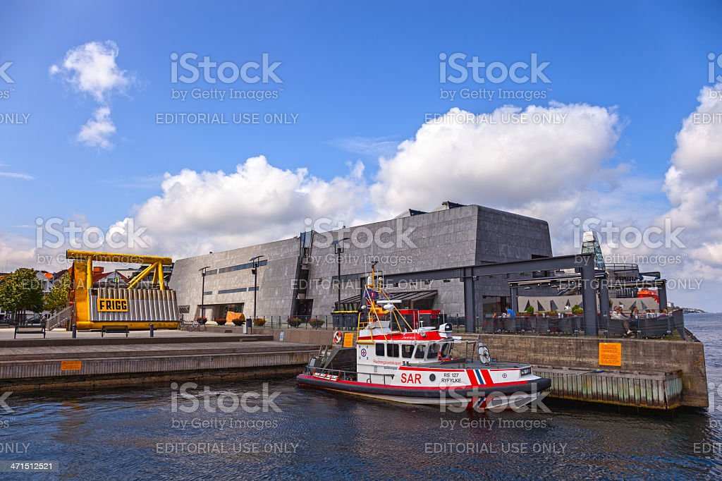 SAR boat on the port of Stavanger, Norway. royalty-free stock photo