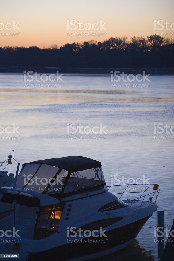 Boat on the River royalty-free stock photo