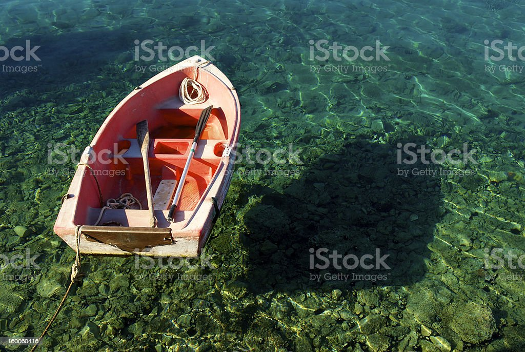 boat on the sea stock photo
