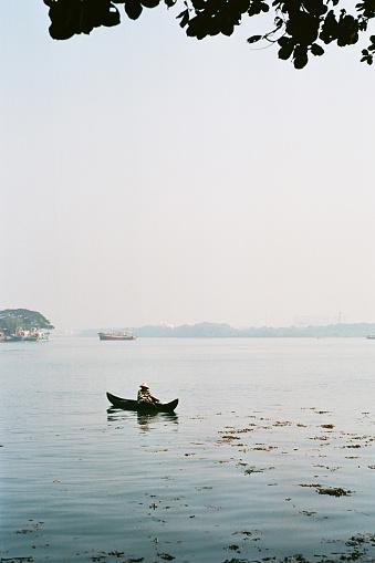 Boat on the sea in Kochi