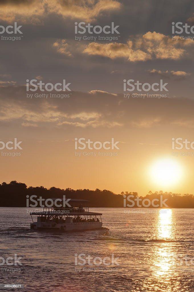 Boat on Zambezi River royalty-free stock photo