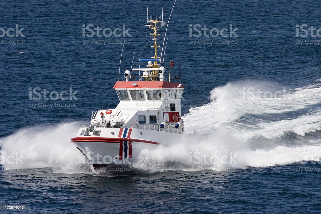 Boat Patrol stock photo