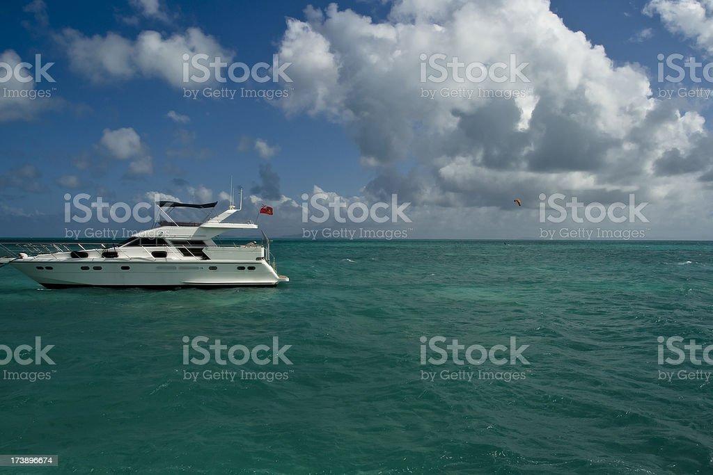 BVI Boat royalty-free stock photo