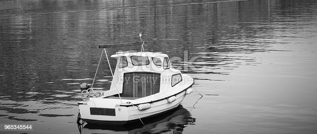 Boat Stock Photo & More Pictures of Black And White