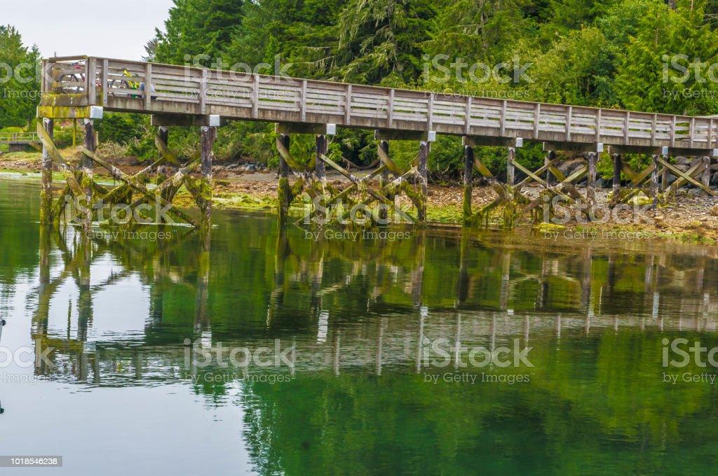 Boat Pier stock photo