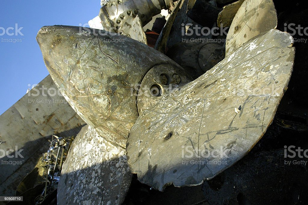 boat propeller royalty-free stock photo