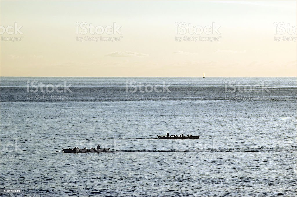 Boat race stock photo