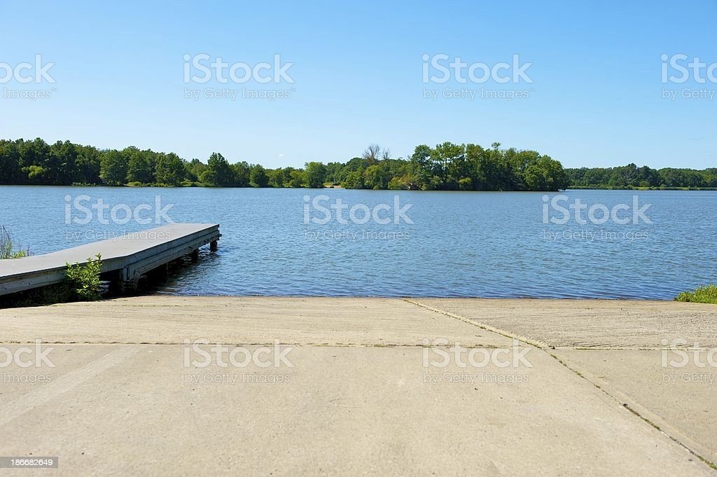 boat ramp and dock stock photo