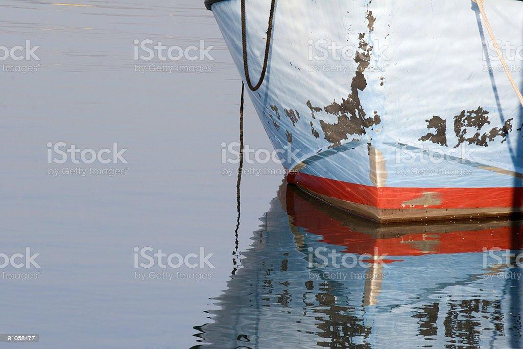 Boat Reflect royalty-free stock photo