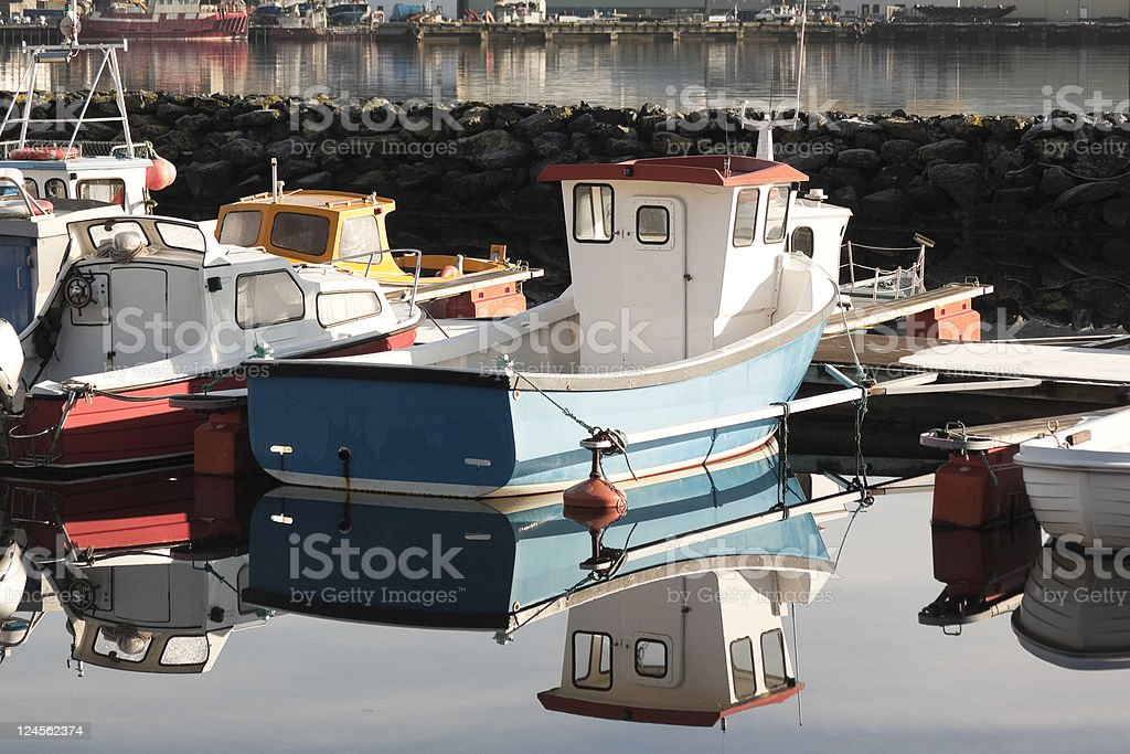 Boat Reflection royalty-free stock photo
