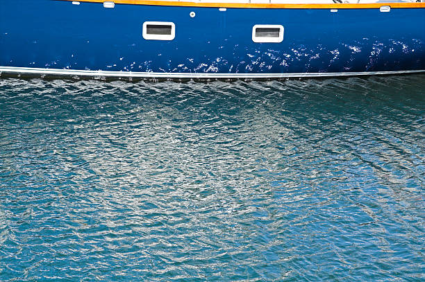 boat reflexion stock photo